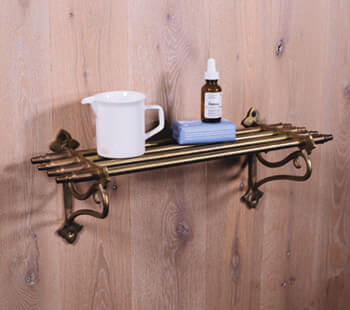 small brass vintage towel rack