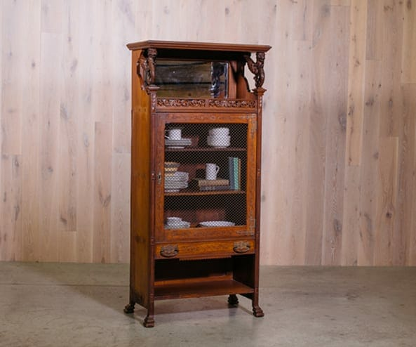 victorian-style bookshelf
