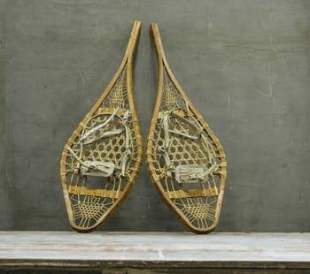 vintage snowshoes