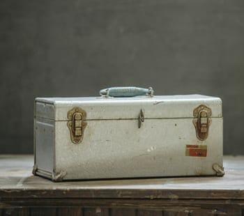 vintage plumber's tool box