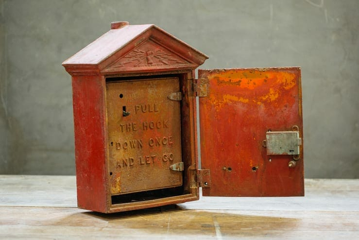 cast iron fire alarm box