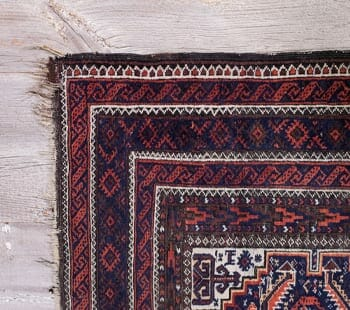 tiny diamond vintage oriental rug
