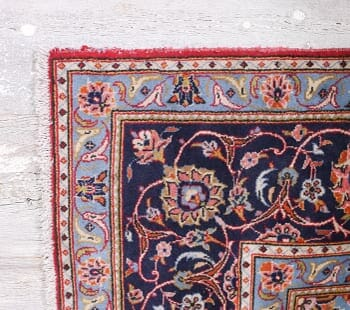 crimson and navy vintage tabriz rug