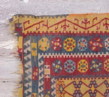 goldenrod vintage tribal rug