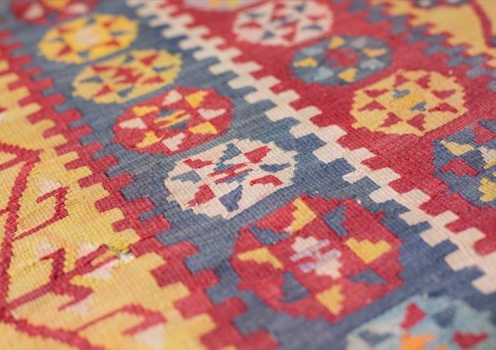 goldenrod vintage tribal rug