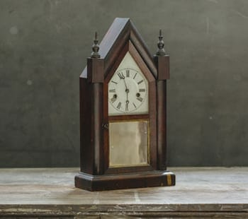 Vintage Cathedral Shelf Clock