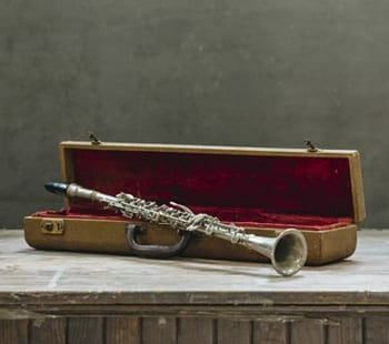 vintage clarinet with case
