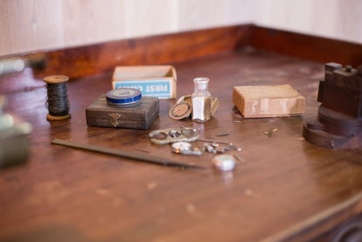 antique watchmakers workbench