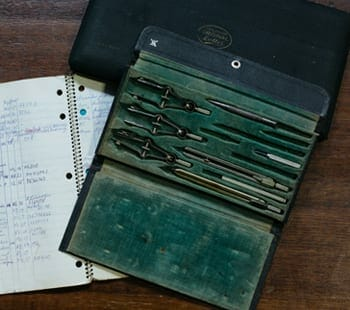 vintage drafting kit