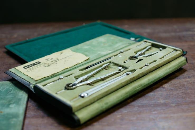 vintage drafting kit