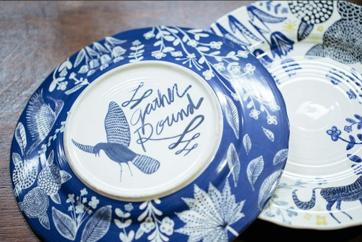 hand-painted dish set