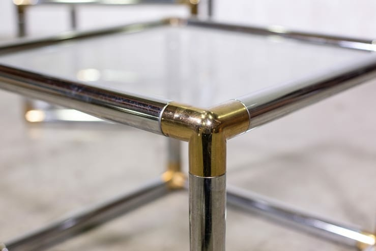 Chrome Cube End Table