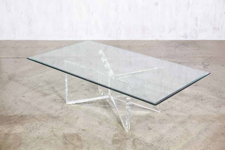 Modernist Table with Lucite Base
