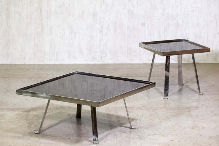Modernist chrome table