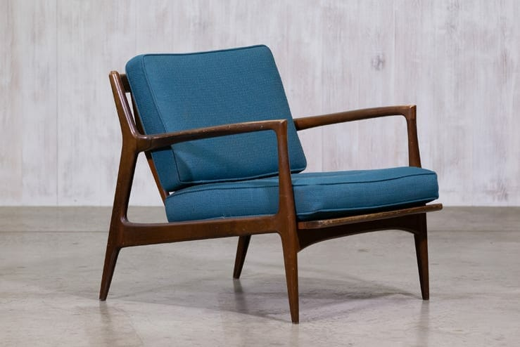 Stupendous Danish Mid Century Modern Ib Kofod Larsen For Selig Lounge Chair Download Free Architecture Designs Scobabritishbridgeorg