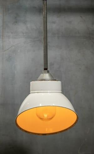Offset Enamel Factory Pendant