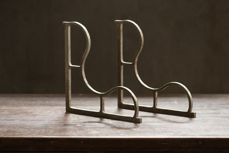 Vintage Aluminum Shelf Brackets