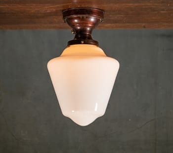 Flush Mount Bell Schoolhouse Shade