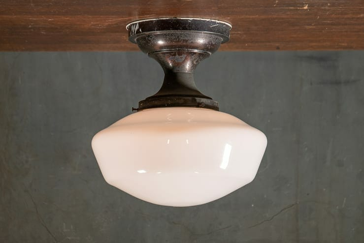 Flush Mount Domed Schoolhouse Shade