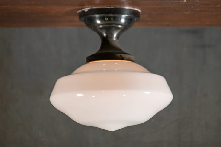 Flush Mount Large Ogee Schoolhouse Shade