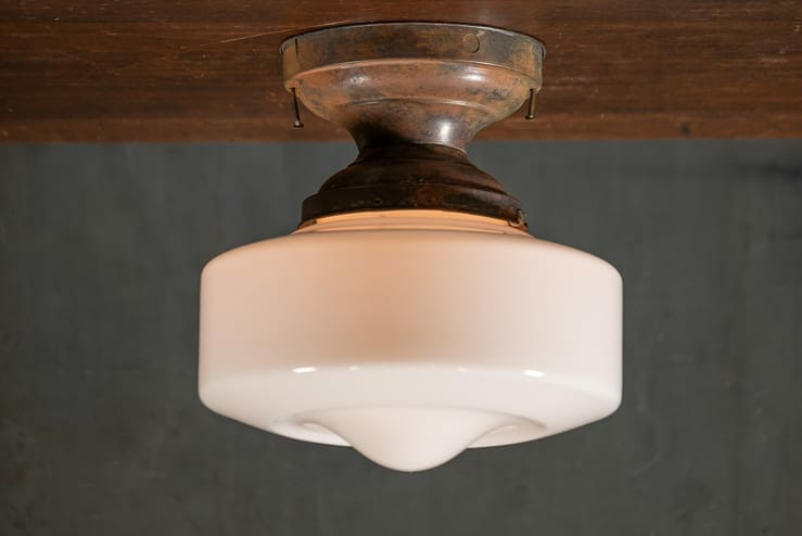 Flush Mount Low Profile Schoolhouse Shade