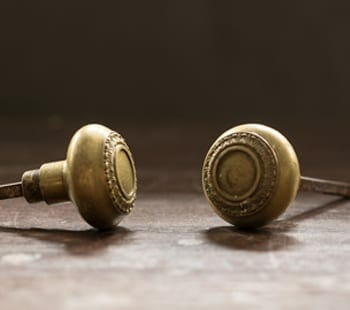 vintage Guilloche Door Knobs