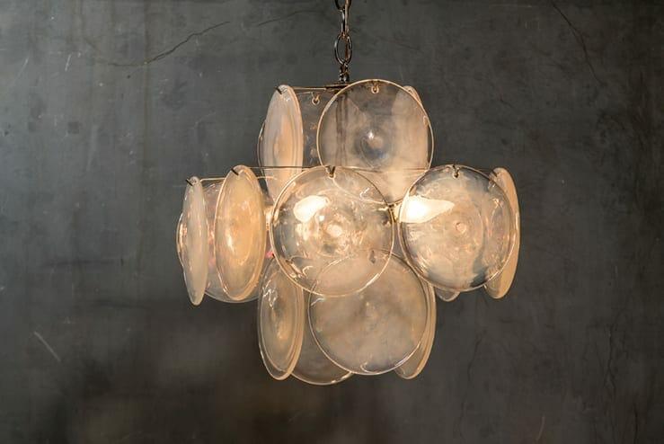 Murano art glass chandelier