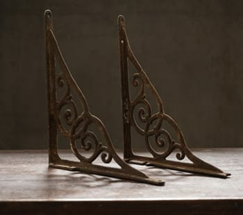 Scrolling Cast Iron Shelf Brackets