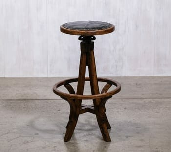 wood drafting stool