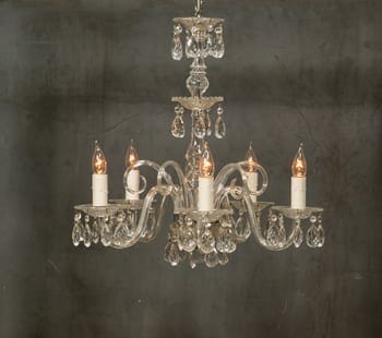 five-arm classic chandelier