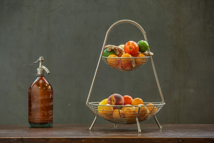 wire vintage fruit basket