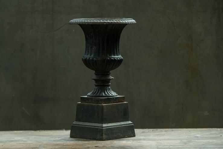 petite cast iron planter