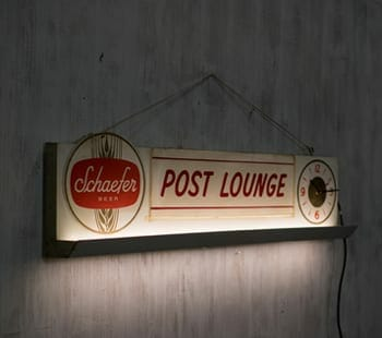 Vintage Schaefer Illuminated Sign
