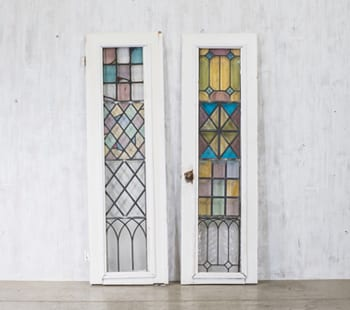 Stained Glass Harlequin Door