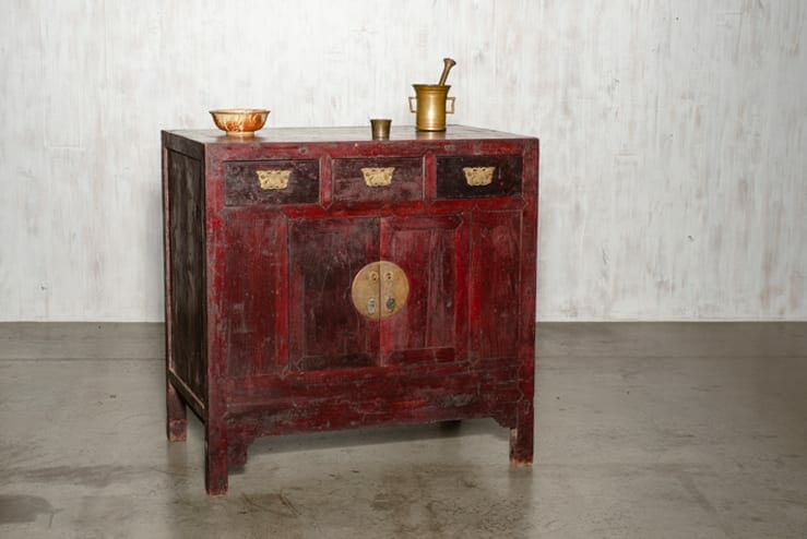 Asian-inspired cabinet