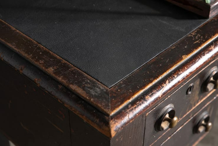 early 20th-century leather-topped desk
