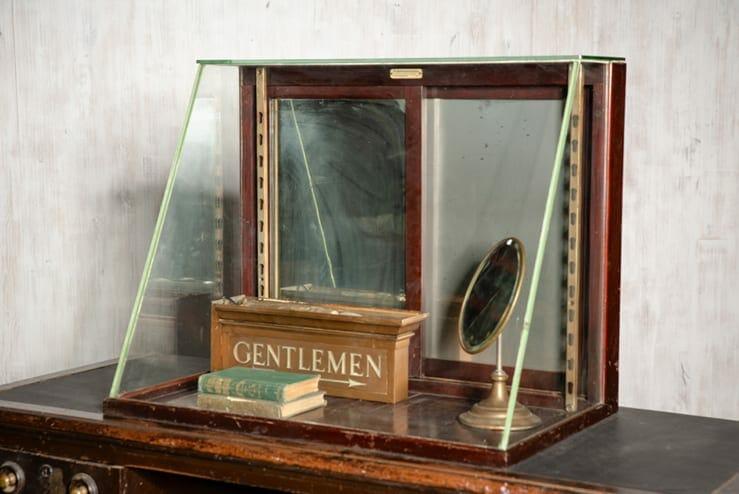 slant-top display case