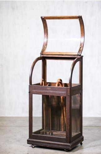 vintage cane display case