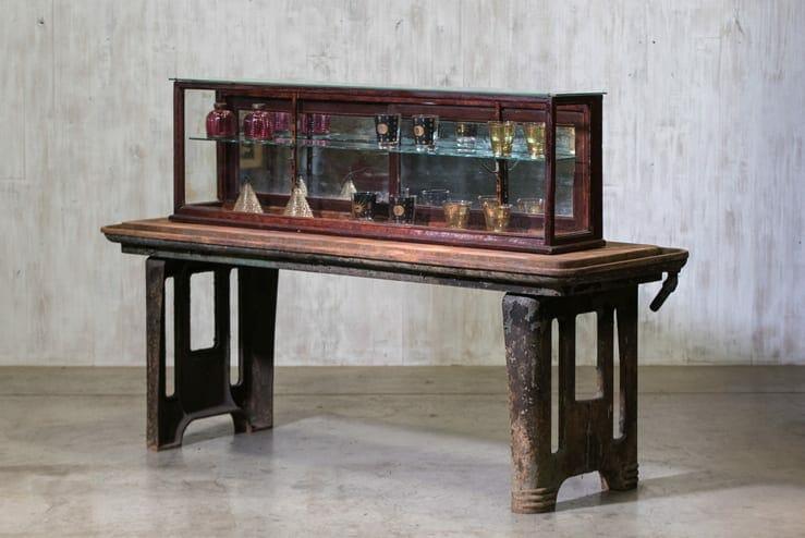 antique countertop display case