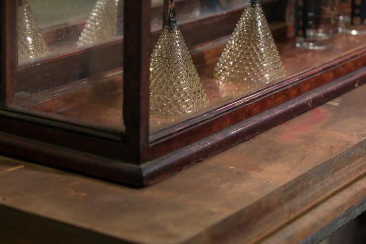 antique tabletop display case