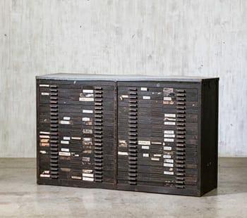 Hamilton Steel Printer's Cabinet
