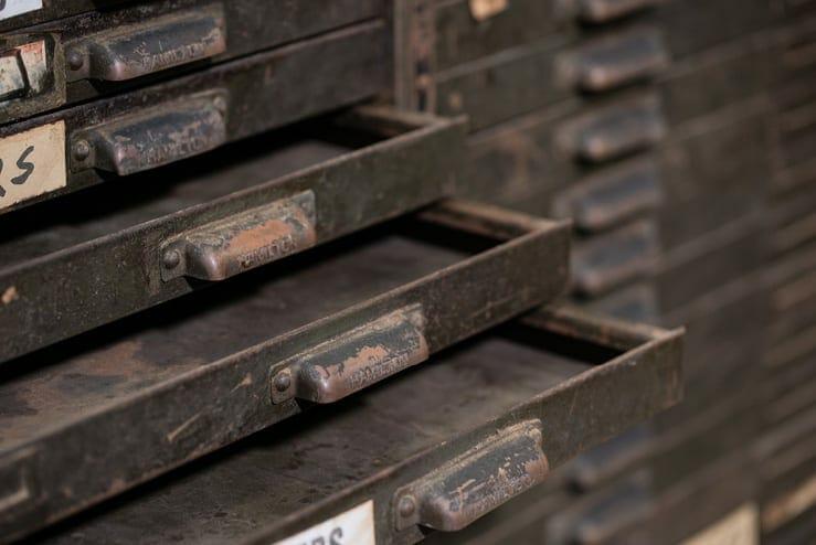 Steel Hamilton Printer's Cabinet
