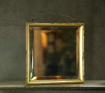 beveled mirror with gilt frame