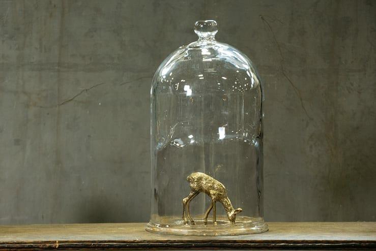 vintage hand-blown glass cloche
