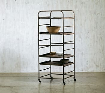 industrial french baker's rack
