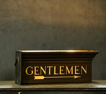 vintage lavatory sign