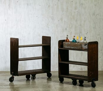 vintage library cart
