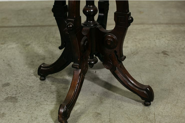 eastlake-style marble-topped end table