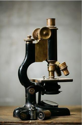 antique bausch & lomb microscope
