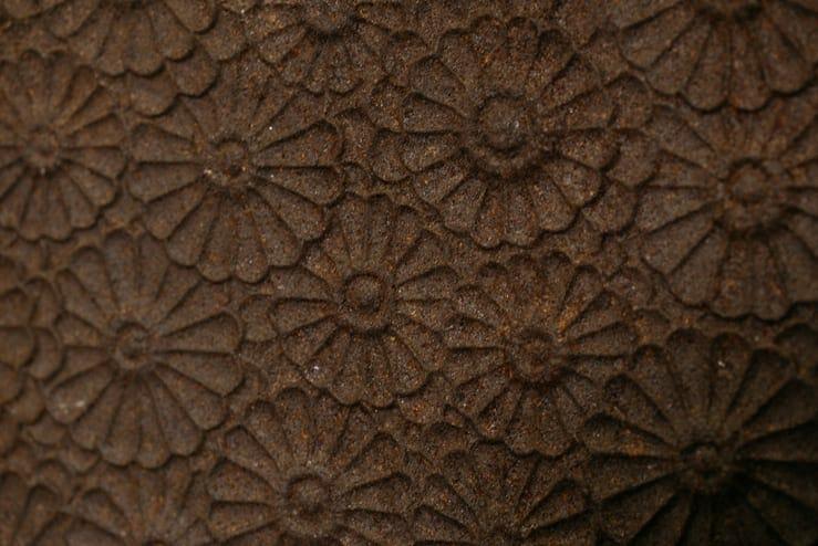 cast iron floral fireback